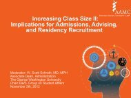 Increasing Class Size II: Implications for Admissions, Advising, and ...