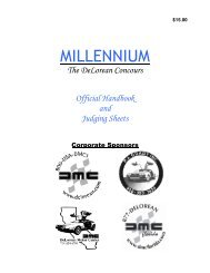 MILLENNIUM - DMC-News The DeLorean Mailing List
