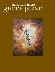 Complete issue - Rhode Island Medical Society