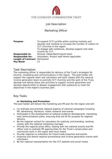 marketing officer job description pdf