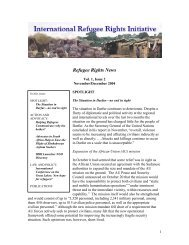 November/December newsletter - International Refugee Rights ...
