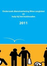 Onderzoek dienstverlening Wmo zorgloket en hulp bij ... - Gemeenten