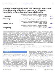 Perceptual consequences of face viewpoint ... - Journal of Vision