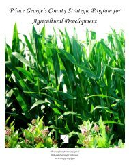 Prince George's County Strategic Program for Agricultural ...