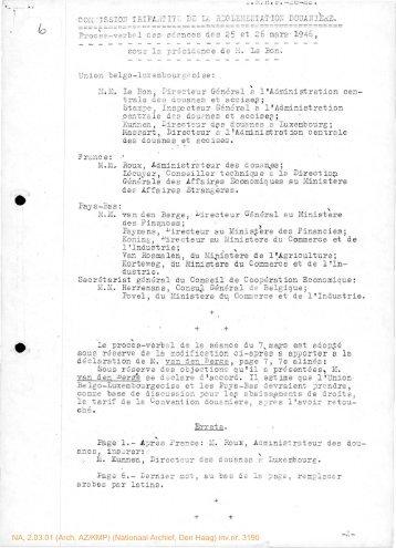 NA, 2.03.01 (Arch. AZ/KMP) (Nationaal Archief, Den ... - Historici.nl