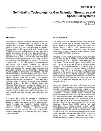 Self-Healing Technology for Gas Retention Structures ... - Team-Logic