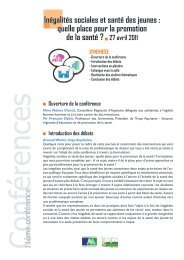 quelle place pour la promotion de la santé - Jeunes Aquitaines