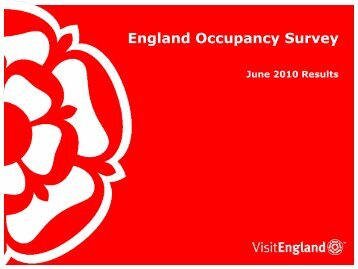 England Occupancy Survey - VisitEngland