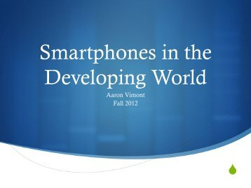 Smartphones in the Developing World