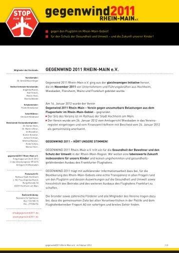 20 Forderungen von Gegenwind2011 Rhein-Main e.V.