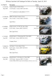 Wilsons Auctions Ltd Catalogue for Sale on Tuesday, April, 02, 2013