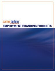 EMPLOYMENT BRANDING PRODUCTS - Icbdr
