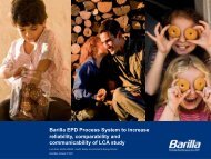Barilla EPD Process System - Inra