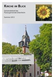 KIRCHE IM BLICK - Paulusgemeinde Erbenheim