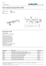 floor channel CeraLine Plan F 500