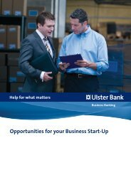 Opportunities for your Business Start-Up - Ulster Bank