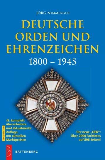Deutsche Orden und Ehrenzeichen 1800-1945 - Gietl Verlag