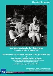 Les suds profonds de l'Amérique 21 octobre 2010 - 30 ... - Montpellier