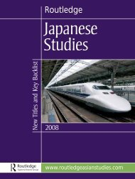 Japanese Studies 2008 (UK) - Routledge