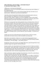 """Abitur-Gottesdienst """"Auf neuen Wegen – und trotzdem Zuhause ..."""