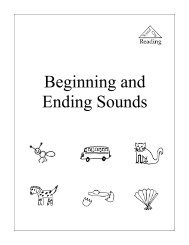 Beginning and Ending Sounds Workbook - Sound City Reading