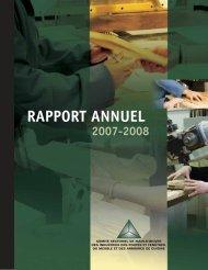 Rapport annuel 2007-2008 - Clicemplois.net