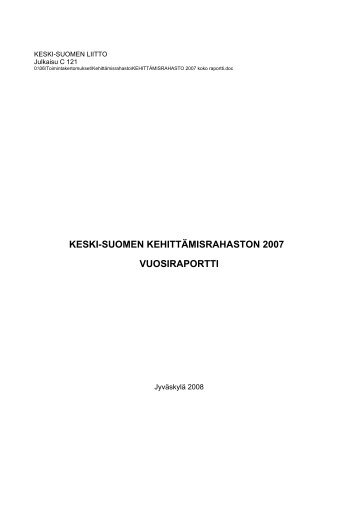 ISBN 978-951-594-324-8 (sähköinen versio) - Keski-Suomen liitto
