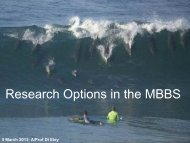 MBBS Student Research Options
