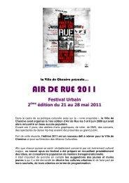 AIR DE RUE 2011 - Ville de Chenôve