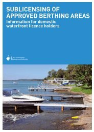SublicenSing of approved berthing areaS - Land - NSW Government