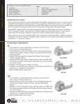 CYLINDRICAL ADAPTATION LOCKS - DH Pace - Page 2