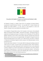 Republic of Senegal Position Paper - ViaMUN