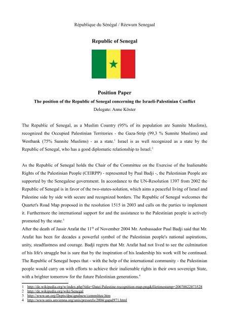 Republic of Senegal Position Paper - ViaMUN