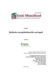 Rohtsed energiakultuurid Eestis - bioenergybaltic