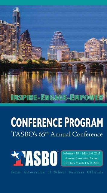 conference program - Texas Association of School Business Officials