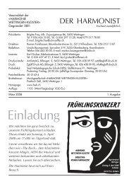 2008 - 1 - Harmonie Wettingen-Kloster