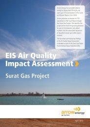 Surat Gas Project EIS - Air Quality Impact Assessment - Arrow Energy