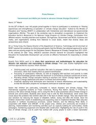 Tăng cường hợp tác về giáo dục biến đổi khí hậu - VVOB
