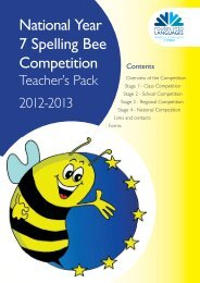 National Year 7 Spelling Bee Competition - Routes Into Languages