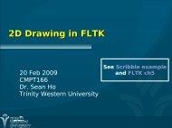 2D Drawing in FLTK