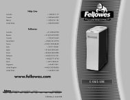 C-120/C-120C Manual-2006 - Fellowes