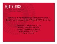 Neshanic River Watershed Restoration Plan - Rutgers Cooperative ...