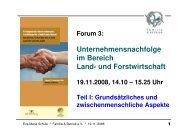 Unternehmensnachfolge im Bereich Land- und Forstwirtschaft