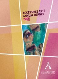 ACCESSIBLE ARTS ANNUAL REPORT 2005