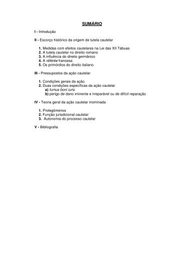 Teoria Geral da Ação Cautelar Inominada - Revista Temas Atuais ...
