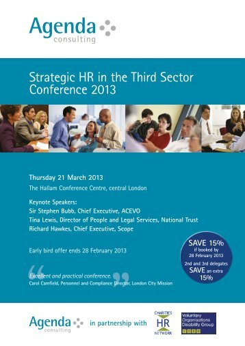 Strategic HR in the Third Sector Conference 2013 - VODG