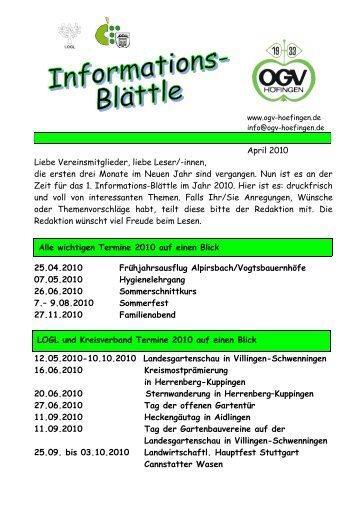 Gartenbau Herrenberg informationsblatt 2012 3 obst und gartenbau verein höfingen ev