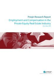 Employment and Compensation in the Private Equity Real ... - Preqin