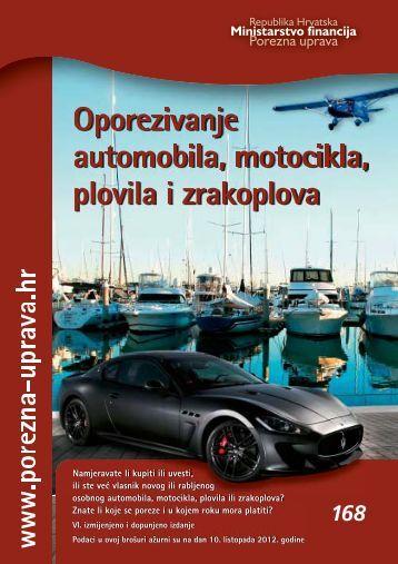Oporezivanje automobila, motocikla, plovila i ... - Porezna uprava