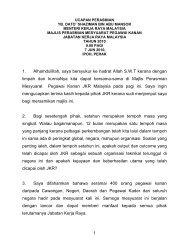 UCAPAN PERASMIAN - Kementerian Kerja Raya Malaysia